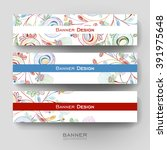 beautiful banner vector... | Shutterstock .eps vector #391975648