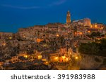 ancient town of matera  sassi... | Shutterstock . vector #391983988
