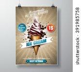 vector delicious ice cream... | Shutterstock .eps vector #391985758