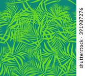 graphic palm leaves. fashion... | Shutterstock .eps vector #391987276