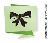 doodle bow | Shutterstock .eps vector #391998850