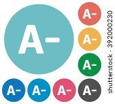 flat decrease font size icon...