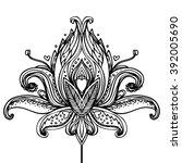 vector ornamental lotus flower  ... | Shutterstock .eps vector #392005690