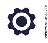 cog wheel icon vector | Shutterstock .eps vector #392017459