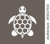 turtle  tortoise icon on dark... | Shutterstock .eps vector #392017510