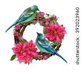 Two Blue Birds Near The Nest...