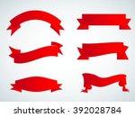 set of ribbons.ribbon banner... | Shutterstock .eps vector #392028784