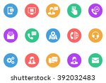 icon advice flat | Shutterstock .eps vector #392032483