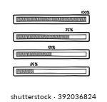 hand drawn vector progress bar. ... | Shutterstock .eps vector #392036824