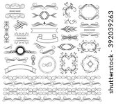 set of vector graphic elements... | Shutterstock .eps vector #392039263