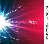 electricity discharge circuit... | Shutterstock .eps vector #392040733