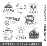 set of circus labels. elements...   Shutterstock .eps vector #392044333