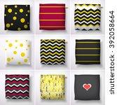 realistic 3d throw pillow... | Shutterstock .eps vector #392058664