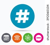 wifi  sms and calendar icons....   Shutterstock .eps vector #392060104