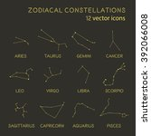 Zodiacal Constellations Vector...