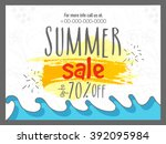 summer sale banner  sale poster ... | Shutterstock .eps vector #392095984