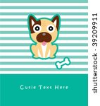 cute doggy card   Shutterstock .eps vector #39209911