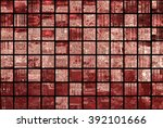 bright abstract mosaic brown... | Shutterstock . vector #392101666