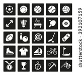 sports and gymnastics icons set.... | Shutterstock .eps vector #392107159