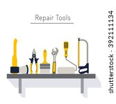 do it yourself  construction... | Shutterstock .eps vector #392111134