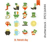 saint patricks day isolated... | Shutterstock . vector #392116444