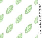 green seamless leaves isolated... | Shutterstock .eps vector #392133508