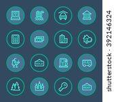 travel web icons set | Shutterstock .eps vector #392146324