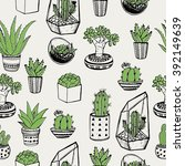 hand drawn seamless pattern... | Shutterstock .eps vector #392149639