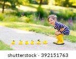 adorable little kid girl... | Shutterstock . vector #392151763