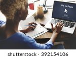 go to page enter button... | Shutterstock . vector #392154106