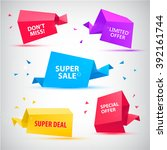 vector set of colorful sale... | Shutterstock .eps vector #392161744
