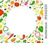 vector round frame from... | Shutterstock .eps vector #392162323