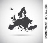 simple illustration map of... | Shutterstock . vector #392162608