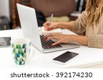 typing on laptop | Shutterstock . vector #392174230