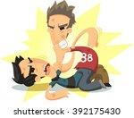 men fist fighting illustration | Shutterstock .eps vector #392175430