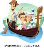 Gondola Venice Ride Cartoon...