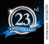 23rd anniversary logo with blue ... | Shutterstock .eps vector #392180704