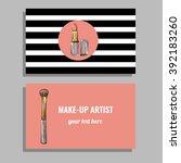 make up artist business card.... | Shutterstock .eps vector #392183260