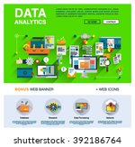 one page data analytics web... | Shutterstock .eps vector #392186764