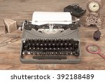 typewriter | Shutterstock . vector #392188489