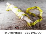 rolling pin and meter | Shutterstock . vector #392196700