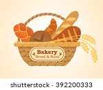 vector wicker basket with... | Shutterstock .eps vector #392200333
