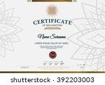 certificate of recognition... | Shutterstock .eps vector #392203003