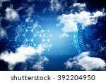 digital abstrct business... | Shutterstock . vector #392204950