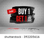 half price sale on grunge... | Shutterstock .eps vector #392205616