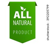 all natural organic products... | Shutterstock .eps vector #392205799
