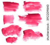 set of watercolor stains. spots ...   Shutterstock . vector #392209840