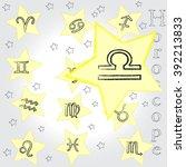 libra . zodiac . horoscope . | Shutterstock .eps vector #392213833