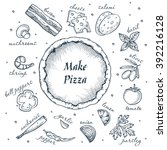 make your pizza set of pizza... | Shutterstock .eps vector #392216128