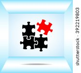 puzzle sign icon  vector...   Shutterstock .eps vector #392219803